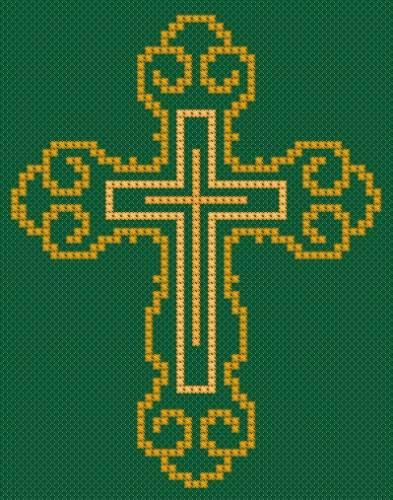 вышивка церковный крест